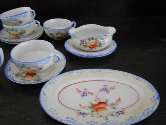 Vintage Child S China Tea Set By Agedandappropriate On Etsy