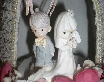 Precious Moments Musical Wedding Cake Topper