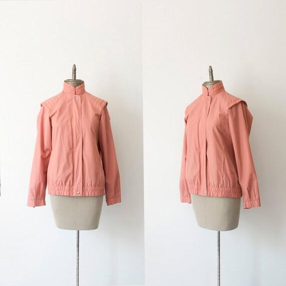 SALE 1980s vintage structured shoulder windbreaker jacket sz M-L