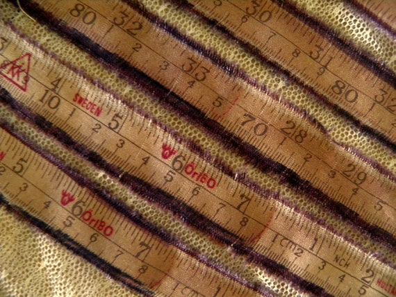 Vintage Style Measuring  Tape Fabric 4 Yards