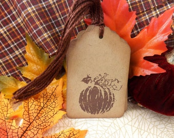 Autumn Pumpkin Gift Tags // Vintage Inspired // Set of 6