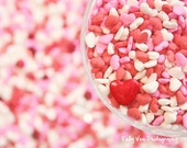 Heart sprinkle Photograph Photo - Love, candy, nursery, kitchen decor, red, pink, bohek, party - Lots of Love - 8 x 10 Fine Art Print
