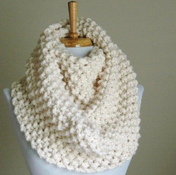 Chunky Knit Infinity Scarf Hand Knit Infinity Scarf Knit