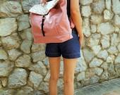 SALE SALE SALE - Tanya in Rose pink // Backpack / Satchel / Rucksack / Messenger / Laptop / Tote / Women / Unisex