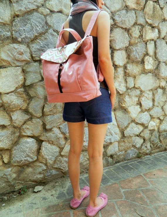 SALE SALE SALE - Tanya in Rose pink // Backpack / Satchel / Rucksack / Messenger / Laptop / Tote / Women / Unisex