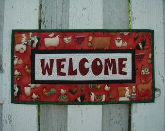 Quilted Welcome Wall Hanging - Farm (UNWLA)