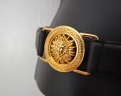 Golden Goddess Vintage Leather Belt
