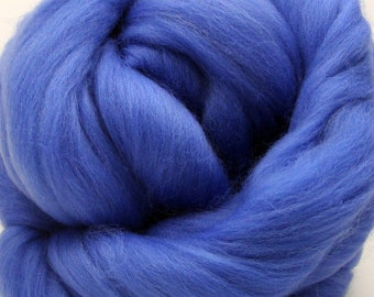 4 oz. Merino Wool Top - Bavarian Blue - Ships Free