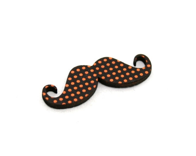 Moustache Brooch, Polka Dot Pin, Movember Facial Hair Accessory, Father's Day Gift