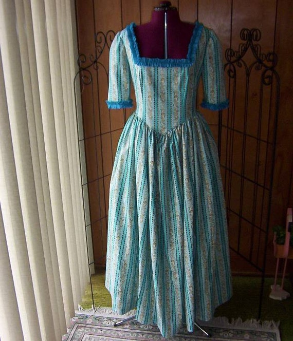 Colonial, Frontier or Pirate Frock, Size 16-18, Ready to ship