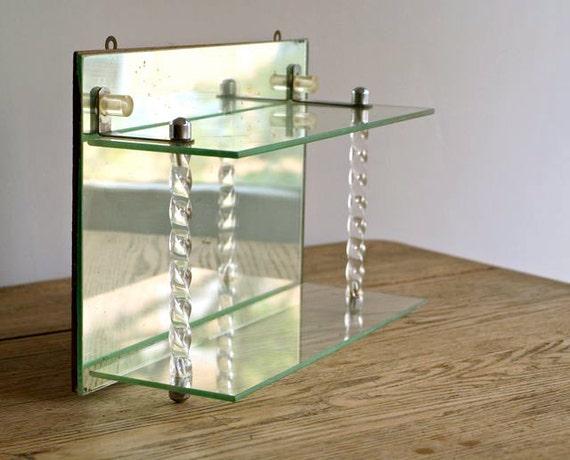 Antique Art Deco Mirrored Shelf