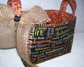 Fall Phrases Print Fabric Basket Organizer Bin Storage Container
