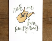 West Virginia Letterpress State Print