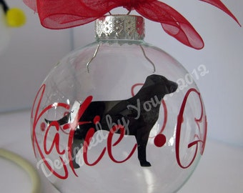 Personalized  Dog Breed Floating Ornament