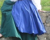 Full Length Circle Skirt and Circle Overskirt Custom Color Medieval SCA LARP Renaissance faire