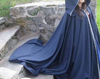 Custom Full Circle Twill Cloak with Trim SCA, LARP, Medieval, Pagan, Renaissance