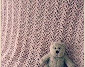 Download Now - CROCHET PATTERN Knit-Look Lace Baby Blanket - Pattern PDF