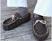 Download Now - CROCHET PATTERN Awesome Mens Moccasins - All Sizes - Pattern PDF