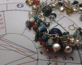 Customized Astrological Necklace - Gemstone Crystal One-Of-A-Kind