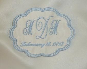 Wedding Dress Label  Scallop