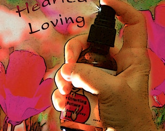 Open-Hearted Loving, Open Heart, Heart's Desires, Love, Organic Reiki-Infused Bach Flower Essence Aromatherapy, Body, Aura and Room Spray
