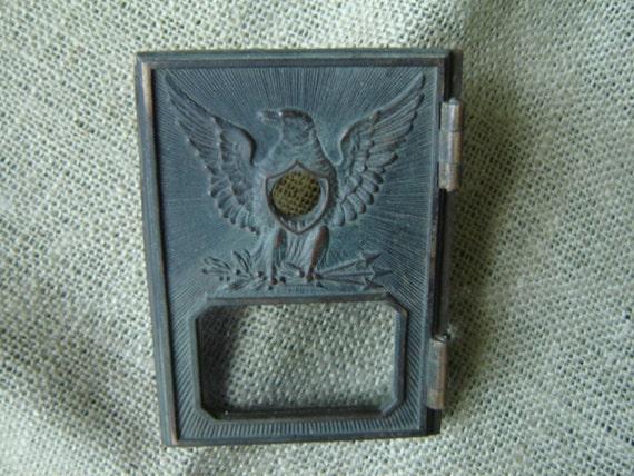 Vintage Brass Eagle Post Office Door Mailbox 1940s