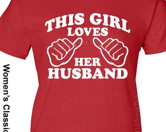 Wife Gift My Husband has an Awesome Wife Women's T-shirt