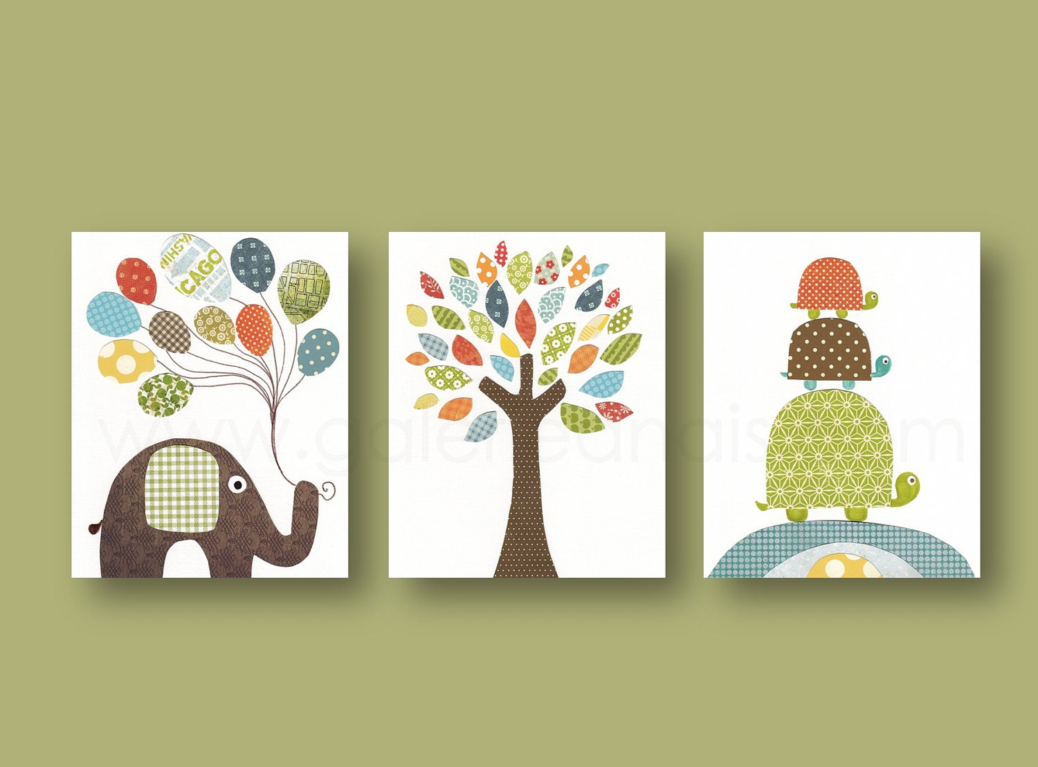 Nursery art prints baby boy nursery decor nursery wall art for Room decor art