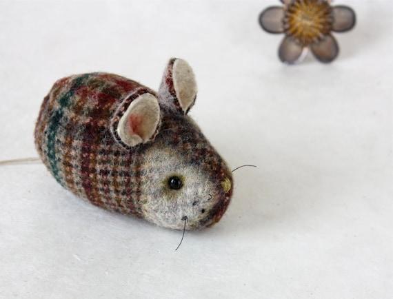 Mouse Plush Wool - Pocket Mouse - Woodland