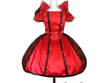 Summer Sale Dancing Bow Doll Inspired Party Dress Custom in Your Size and Color Choice