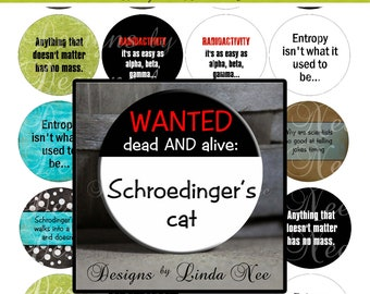 Pinback BUTTON Images 1 inch round 1.313 overall size - Science Geek 2 Digital Collage Sheet AMERICAN BUTTON Machine Tecre