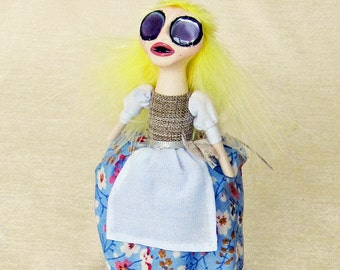 Molly The Kitchen Maid - Peg Doll Art Doll