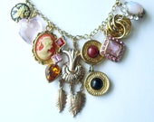 Boho Chic Upcycled Charm Necklace