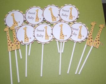 Giraffe Cupcake Toppers (set of 12)