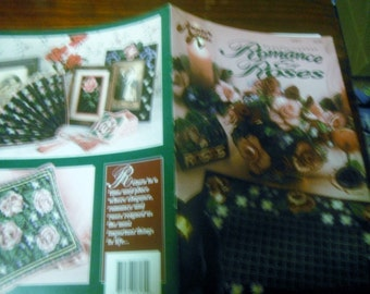Flower Plastic Canvas Patterns Romance and Roses Annies Attic 87R17 Plastic Canvas Pattern Leaflet