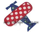 AirPlane  machine embroidery applique design 457