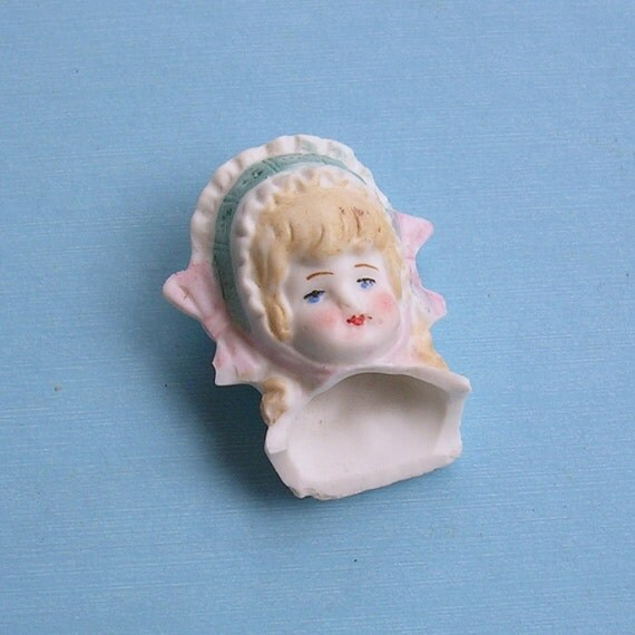 Antique German Doll Head Frozen Charlotte German Doll Head Doll Parts Altered Art Mixed Media Marked Germany
