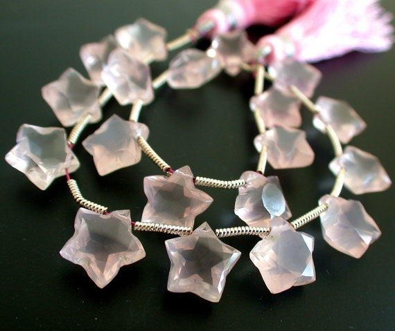 Extremely Beautiful Rose Quartz Star Cut Briolttes
