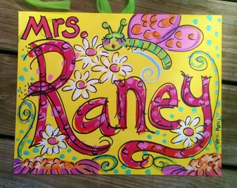 "Back To School Special Teacher Sign MEDIUM 11"" x 14"" for Classroom Made To Order"