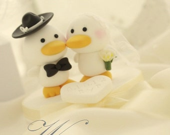 duck Wedding Cake Topper---k745