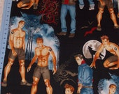 Alexander Henry October Moon Halloween Hunks Fabric By The Yard