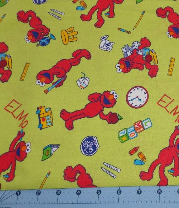 Elmo Back To School Sesame Street Fabric By The Yard