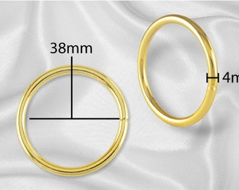 "10pcs - 1 1/2"" Metal O Rings Non Welded Gold - Free Shipping (O-RING ORG-126)"