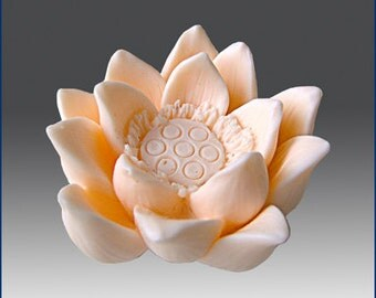 3D Silicone Soap / Candle Mold - Lotus - FREE SHIPPING -Buy from Original Designer - Say no to copy cats