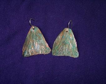 Handforged copper butterfly wings Earrings