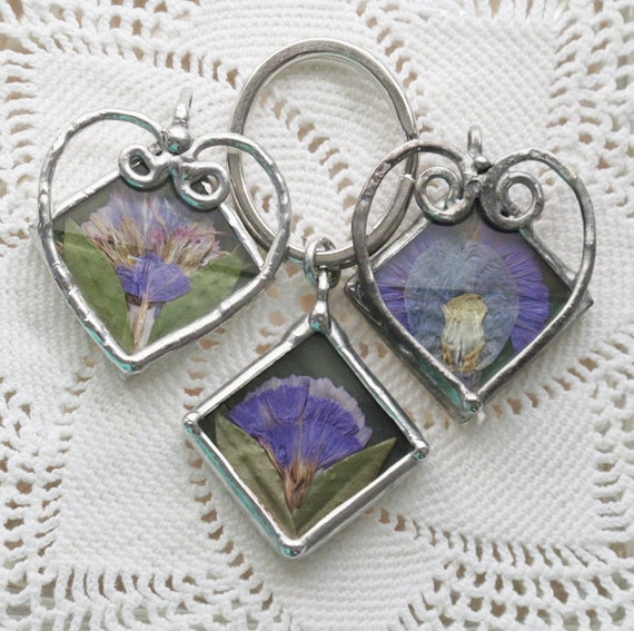 Reserved Listing for Jeweledimages 3- Custom Floral Memorial Charms