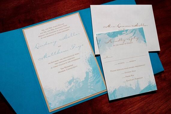 Wedding Invitations Sydney: Items Similar To Watercolor Wedding Invitation