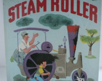 Billy and His Steam Roller by Inez Bertail Vintage Wonder Book