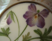 Lacy Porcelain  6 Inch Violet  Plate - SALE
