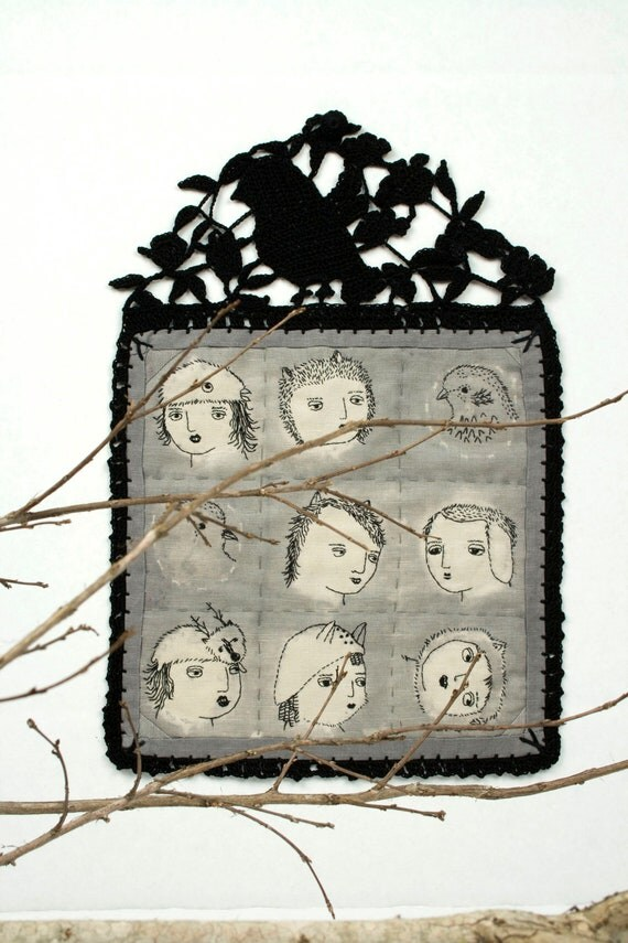 Fiber Art- Embroidery- Girls Of The Forrest